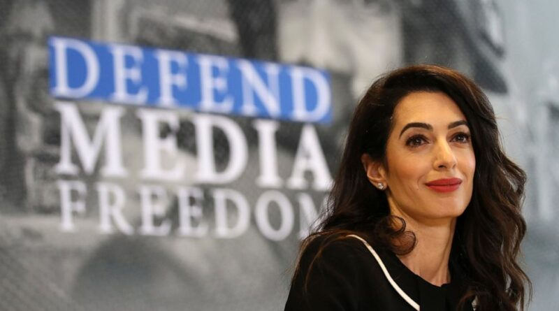 Amal Clooney speaks out for CJA media principles